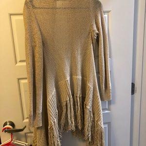 Boho Fringe BCBG Cardigan Sweater